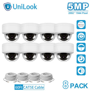 MP HD POE IP Camera 8 PCS In Package Outdoor Security Camera