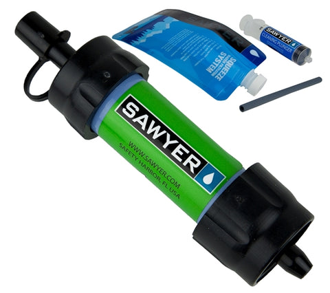 SP101 - Green Sawyer Mini Water Filtration System - Non-Peggable Cardboard Packaging