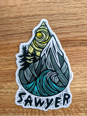 Sawyer x Woosah Sticker