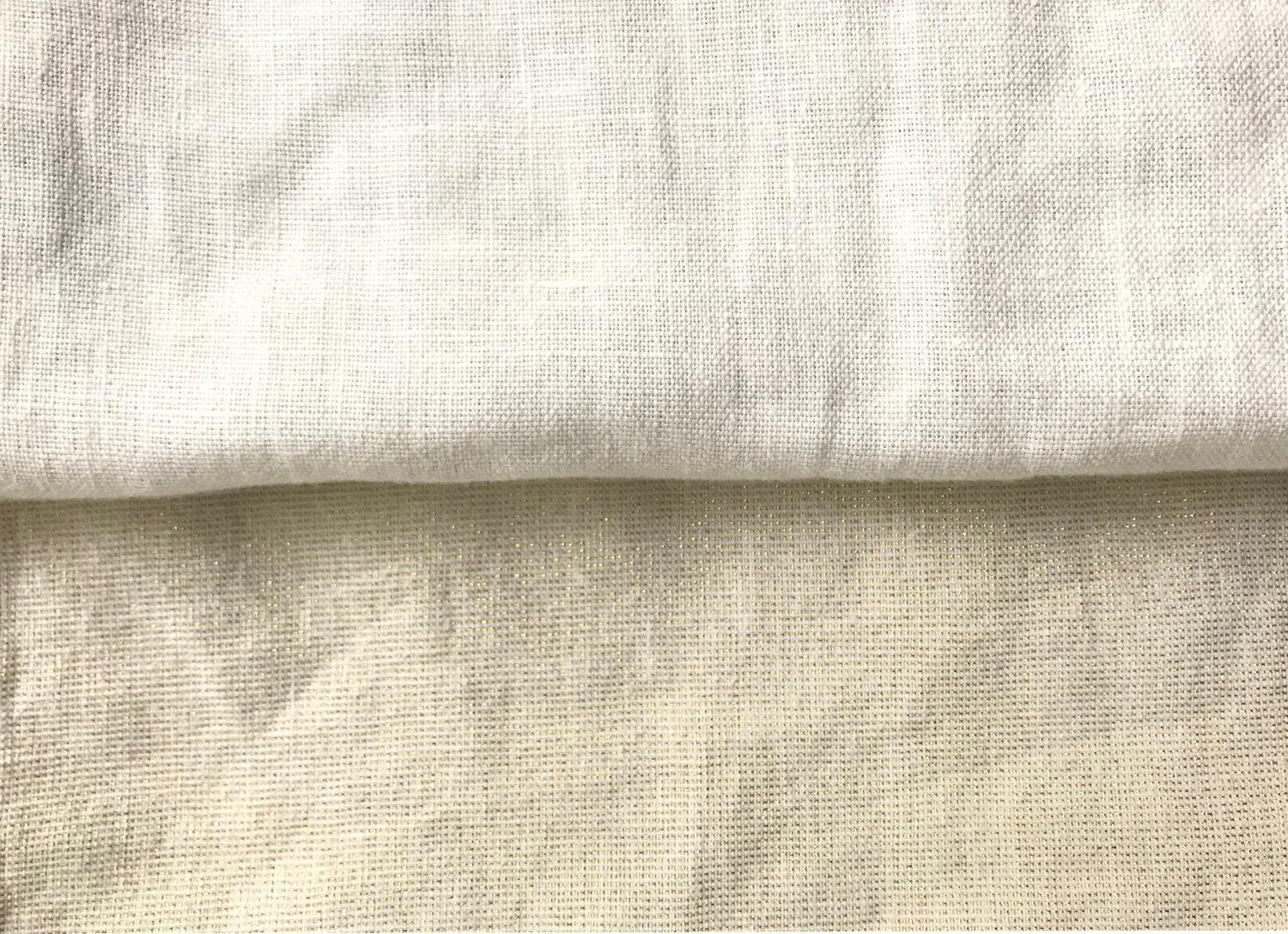 ivory and metallic linen pillow back options
