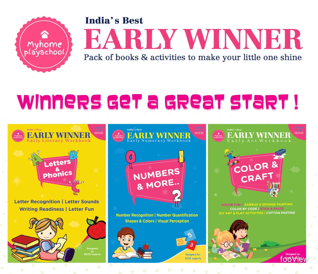 MyHomePlaySchool Early Winner Pack of Books & Activity Kit for 1.5 year to 3 year old