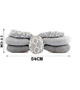 BabyMoon Multifunction Elevate Adjustable Nursing Pillow Infant Feeding Support (Grey)