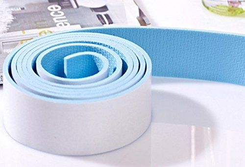KiddySafe Premium Kid's Safety Furniture, Marble, Wall & Glass Edge Cushion Protector 2 Meter Flat Tape/Bar/Strips Light Blue Tape. (Pack of 2)