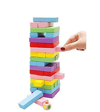 Load image into Gallery viewer, SHANBUYERS - Xplore The Unxplored Wooden Blocks, Tumbling Tower Toy with 1 Dice (54 Pcs)