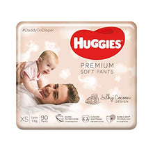 Load image into Gallery viewer, Huggies Premium Soft Pants, Extra Small (XS) Size Daipers, 90 Count