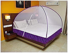 Load image into Gallery viewer, OnlineTree Mosquito net Foldable King Size (Double Bed) with Free Saviours (Violet)