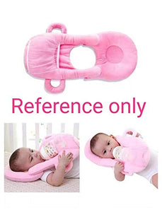 YAZLYN COLLECTION Self Feeder Pillow for Baby Pink - (3 Months to 1 Year)