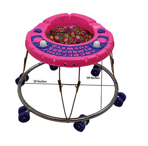 Educational Round Iron Baby Walker Pink
