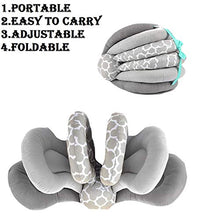 Load image into Gallery viewer, BabyMoon Multifunction Elevate Adjustable Nursing Pillow Infant Feeding Support (Grey)