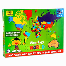 Load image into Gallery viewer, Imagimake: Mapology World- World Map and its Countries- Learning Aid & Educational Toy- Jigsaw Puzzle- for Kids Age 4 and Above