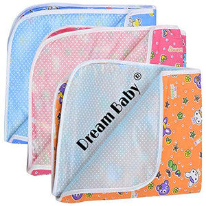 Dreambaby Waterproof Nappy Changing Mat Bedding (Multicolor, 0-3 Months) - Set of 3