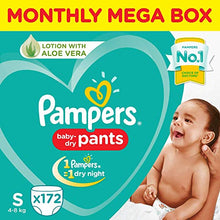 Load image into Gallery viewer, Pampers New Diaper Pants (Monthly Box Pack, Small, 172 no)