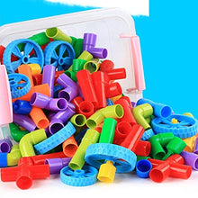 Load image into Gallery viewer, AdiChai Multi Coloured educational Plastic Building Block ( 56 Pieces )