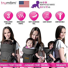 Load image into Gallery viewer, TRUMOM (USA) 3 in1 Baby Carrier for kids 0 to 36 months old ( Upto 12 Kg)
