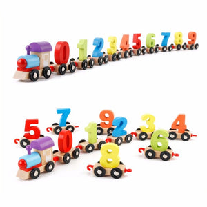 FunBlast Wooden Digital Colourful Train, Educational Model Vehicle Toys , Vehicle Pattern 0 to 9 Number, Educational Learning Toys