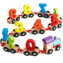 Load image into Gallery viewer, FunBlast Wooden Digital Colourful Train, Educational Model Vehicle Toys , Vehicle Pattern 0 to 9 Number, Educational Learning Toys