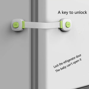 KiddySafe Door and Cabinet Lock (Green)– Pack of 2