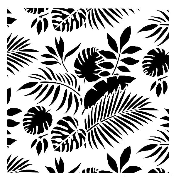 Schablone Tropical Leaves 50 x 50cm