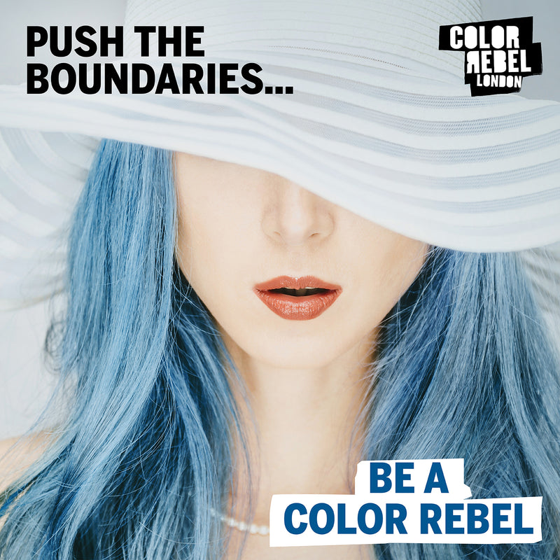 Color Rebel London Semi-Permanent Hair Dye in Bright Blue - Vibrant, Nourishing, Cruelty-Free, Conditioning Hair Color