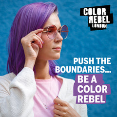 Color Rebel London Semi-Permanent Hair Dye in Bright Purple - Vibrant, Nourishing, Cruelty-Free, Conditioning Hair Color