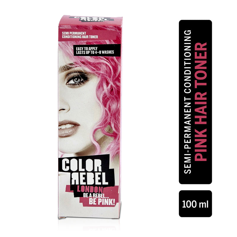 Color Rebel London Semi-Permanent Hair Dye in Bright Pink - Vibrant, Nourishing, Cruelty-Free, Conditioning Hair Color