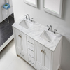 Image of Eviva Aberdeen 60″ White Transitional Double Sink Bathroom Vanity w/ White Carrara Top EVVN412-60WH