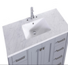 "Image of Eviva Aberdeen 48"" Espresso Transitional Bathroom Vanity w/ White Carrara Top EVVN412-48ES"