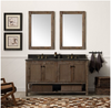 "Image of Legion Furniture 60"" Solid Wood Vanity in Brown with Moon Stone Top, No Faucet WH5160-BR"