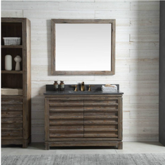 "Legion Furniture 48"" Wood Vanity in Brown w/Marble WH5148 Top, No Faucet WH8448"