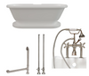 "Image of CAMBRIDGE Plumbing 70"" x  30"" 1/4""Double Ended Clawfoot Bathtub ADE-463D-2-PKG-BN-7DH"