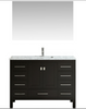 "Image of Eviva Aberdeen 42"" Espresso Transitional Bathroom Vanity w/ White Carrara Top EVVN412-42ES"