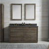 "Image of Legion Furniture 60"" Wood Vanity in Brown with Marble WH5160 Top, No Faucet WH8360"