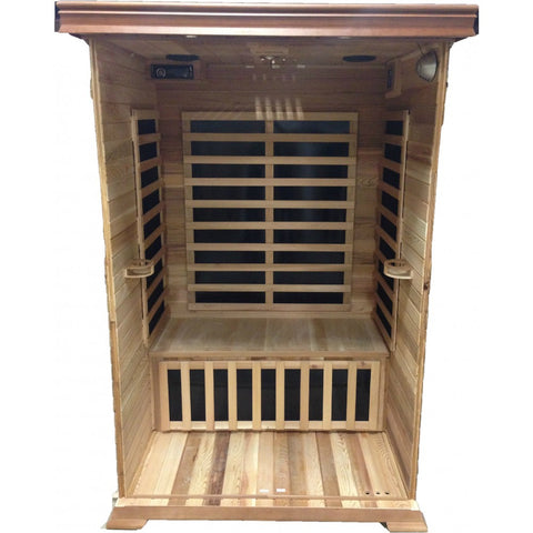 Sunray Sierra 2 Person Cedar Infrared Sauna w/Carbon Heaters HL200K