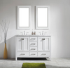 "Image of Eviva Aberdeen 60"" Espresso Transitional Double Sink Bathroom Vanity w/ White Carrara Top EVVN412-60WH"