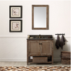 "Image of Legion Furniture 36"" Solid Wood Vanity in Brown with Moon Stone Top, No Faucet WH5136-BR"