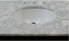 "Image of Legion Furniture 60"" ANTIQUE COFFEE SINK VANITY WITH CARRARA WHITE TOP AND MATCHING BACKSPLASH WITHOUT FAUCET WLF6036-60"""