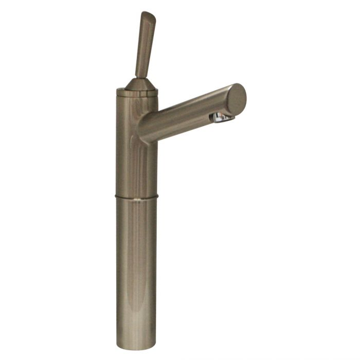 Whitehaus Centurion Elevated with Long Spout in Brushed Nickel Lavatory Faucet 3-3344-BN