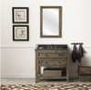 "Image of Legion Furniture 36"" Wood Vanity in Brown w/Marble WH5136 Top, No Faucet WH8036-BR"