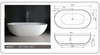 "Image of Legion Furniture 70.1"" White Matt Solid Surface Tub, No Faucet WJ8619-W"