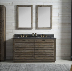 "Legion Furniture 60"" Wood Vanity in Brown with Marble WH5160 Top, No Faucet WH8360"