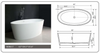 "Image of Legion Furniture 63"" White Matt Solid Surface Tub, No Faucet WJ8617-W"