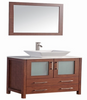 "Image of Legion Furniture 24"" Solid Wood Vanity Set with Mirror in Cherry, No Faucet WA7824C"