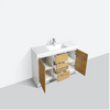"Image of Eviva Grace 60"" Natural Oak/White Single Sink Bathroom Vanity w/ White Integrated Top EVVN765-60NOK-WH-SS"