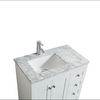 Image of Eviva Happy 28″ x 18″ White Transitional Bathroom Vanity w/ White Carrara Top EVVN30-28X18WH