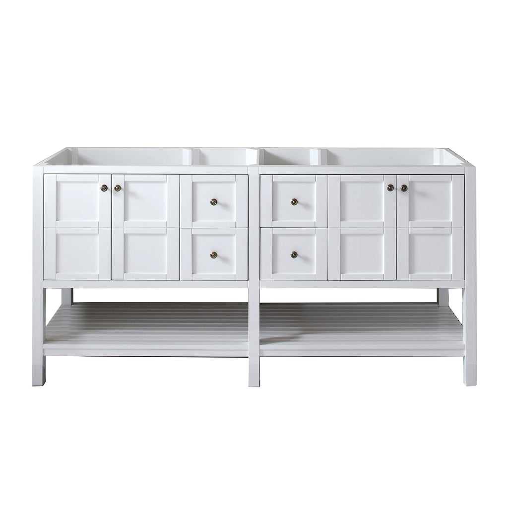 "Virtu USA Winterfell 72"" Double Bathroom Vanity Cabinet ED-30072-CAB"