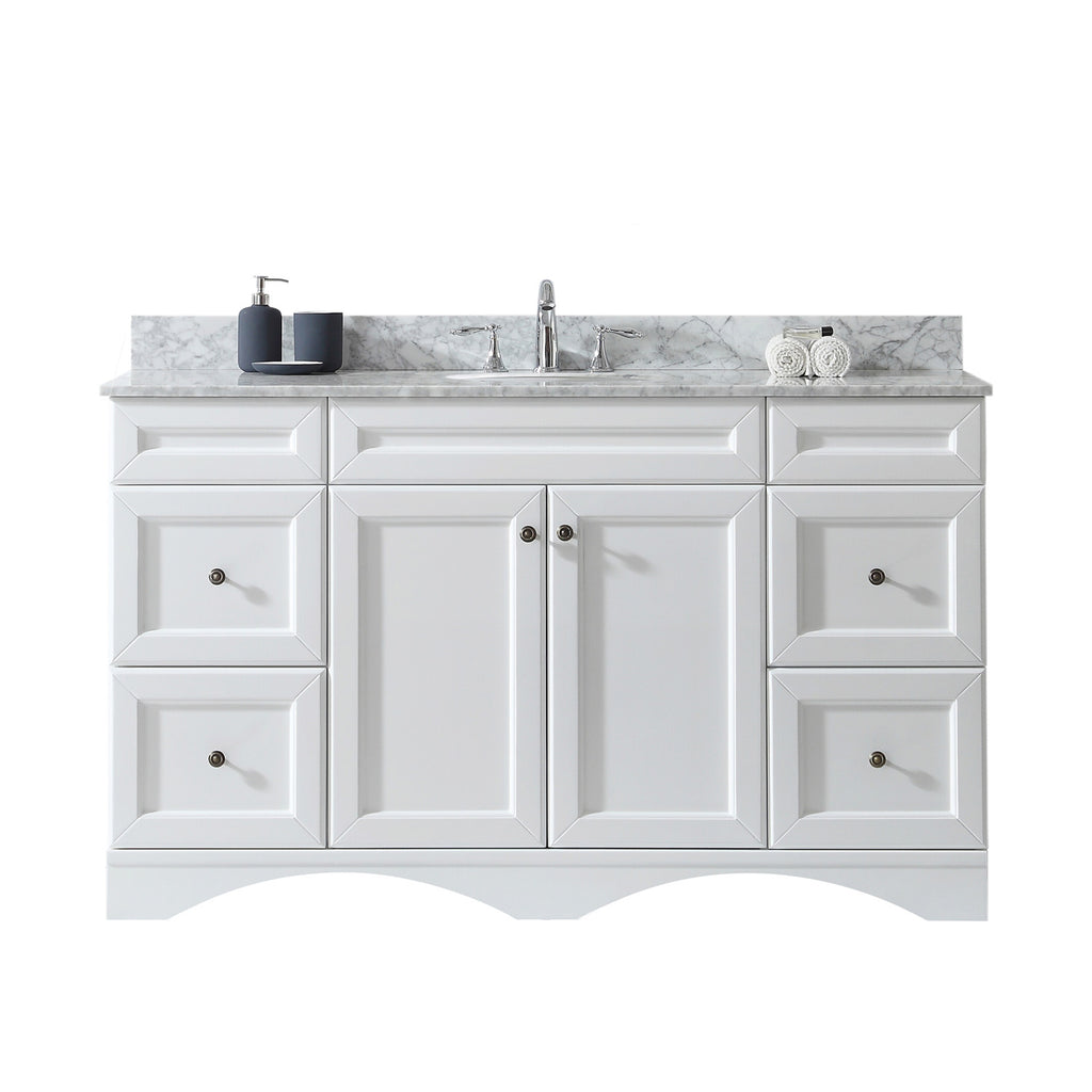 "Virtu USA Talisa 60"" Single Bathroom Vanity Set ES-25060-WMRO"