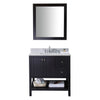 "Image of Virtu USA Winterfell 36"" Single Bathroom Vanity Set ES-30036-WMSQ"