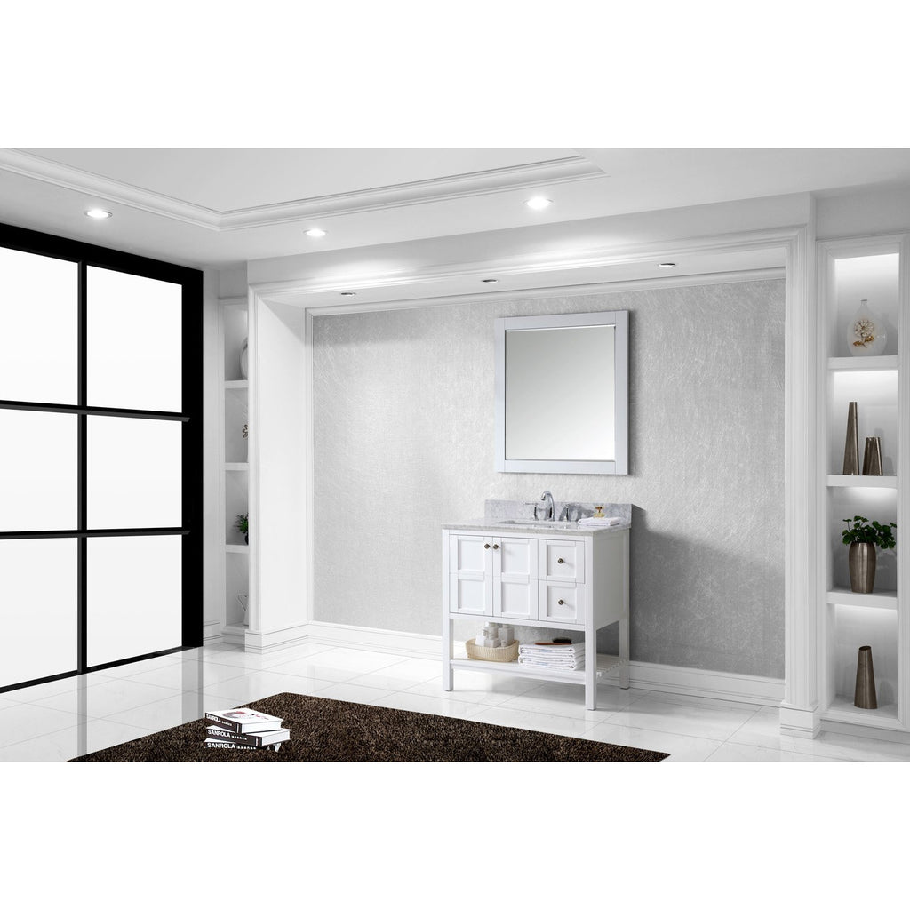 "Virtu USA Winterfell 36"" Single Bathroom Vanity Set ES-30036-WMSQ"