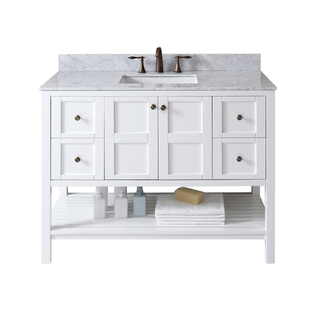 "Virtu USA Winterfell 48"" Single Bathroom Vanity Set ES-30048-WMSQ"