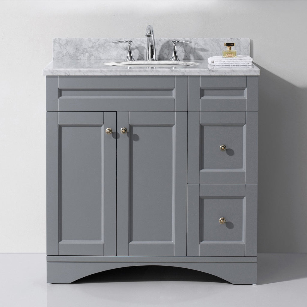 "Virtu USA Elise 36"" Single Bathroom Vanity Set ES-32036-WMRO"